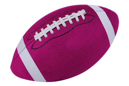 American Pink football isolated over a white background with a clipping path Reklamní fotografie