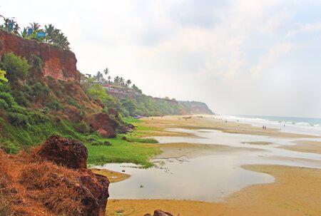 south india: Varkala beach. South India. May Stock Photo