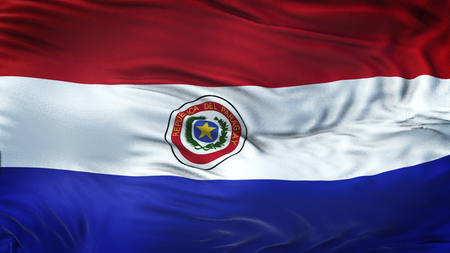 PARAGUAY Realistic Waving Flag Background