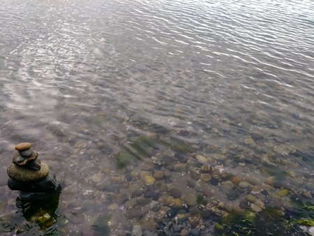 stack of stones in Puget sound