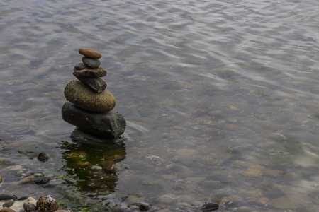 stone stack in water