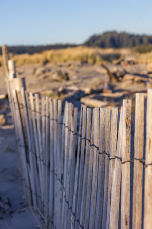 Old wood fence near coast