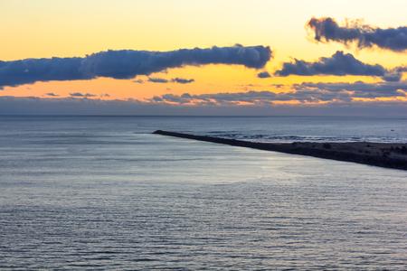 cliffside veiw of sunset Stock Photo