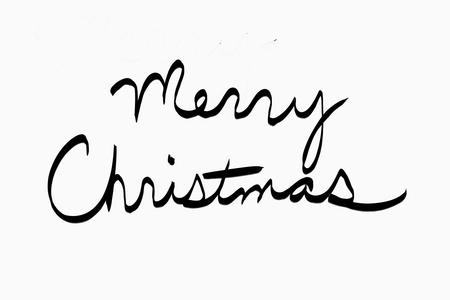 merry christmas in black cursive on white stock photo 98381069