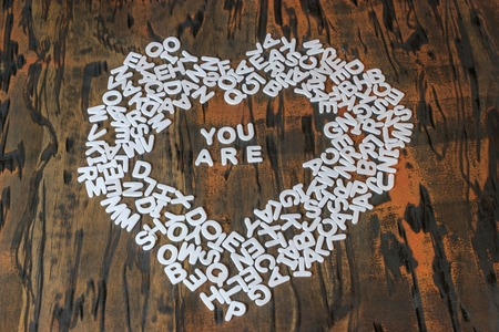 words you are inside heart Banco de Imagens