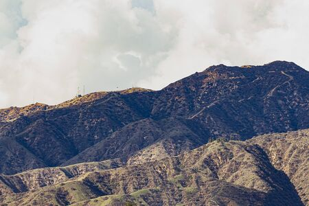 san gabriel mountains with clouds