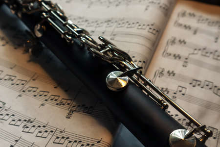 details of a piece of a clarinet