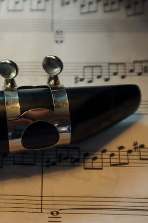the top side of a clarinet on music