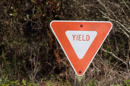 American sign to yield in rural area