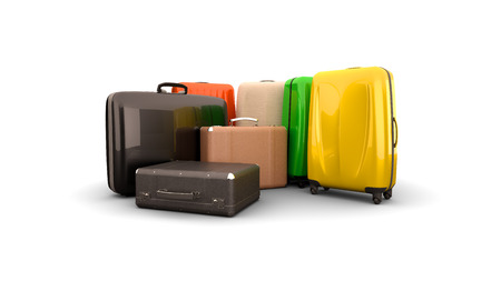 Luggage, suitcases high quality photo realistic render Stock Photo