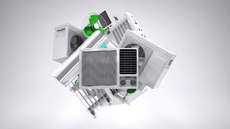Klimaanlage, Heizung, Klimaanlagen. hochwertige Foto realistisch render Standard-Bild - 36873328