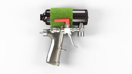 pu: Spray foam PU insulation gun. Eco concept