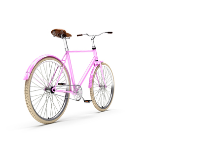hand crank: Bicycle. Vintage. High quality photo realistic render