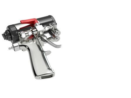 pu foam: Spray foam PU insulation gun. High quality photo realistic render