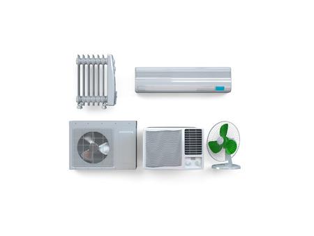 Aircon, 히터, 기후 장비. 고품질 사진 현실적인 렌더링