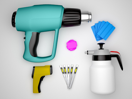 Car wrapping tools. High qualiti  photo realistic render