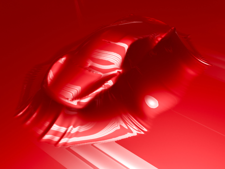 red paint: Car wrapping film and tools. High quality  photo realistic render