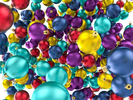 Christmas ornament  balls. High quality 3d render