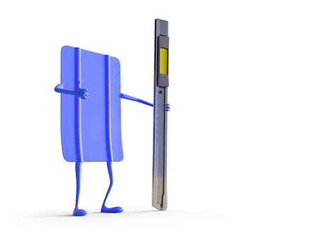 Car wrapping squeegee character. High quality  photo realistic render