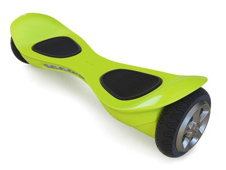Hoverboard isoliert auf weißem Hintergrund. 3D übertragen Standard-Bild - 54499886