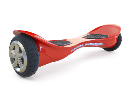 craze: Hoverboard isolated on white background. 3D render