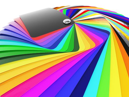 Car wrapping film color palette swatch. 3d render Stock Photo - 54499901