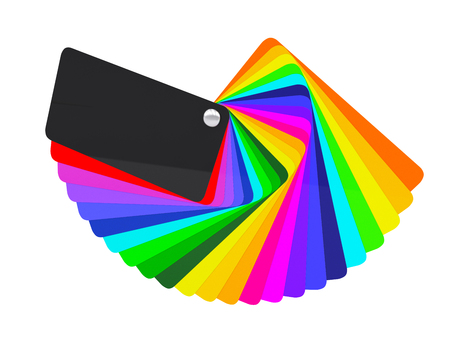 Car wrapping film color palette swatch. 3d render