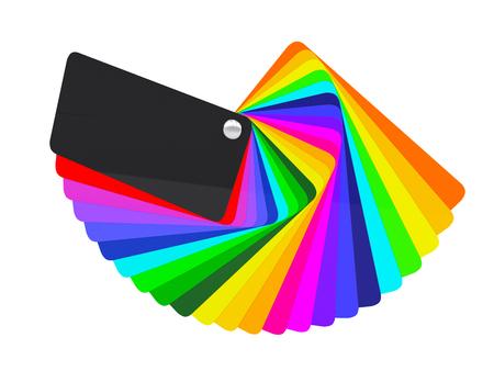 Autoverpackungsfolie Farbpalette Feld. 3d render Standard-Bild - 54499903