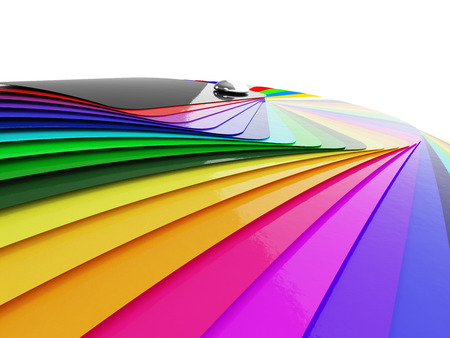 Car wrapping film color palette swatch. 3d render Reklamní fotografie - 54499905