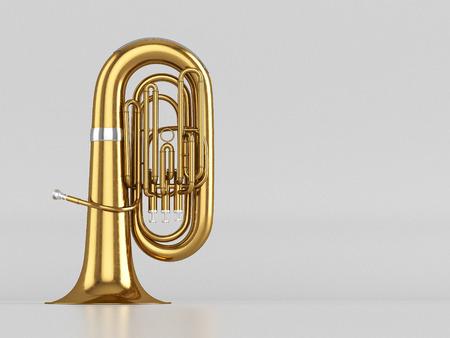 fagot: W wieku tuba na białym tle. renderowania 3D Zdjęcie Seryjne