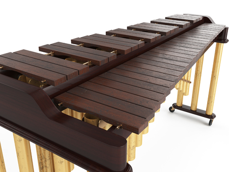 Marimba isolated on white background 3d rendering