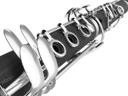 clarinete: Clarinete. Imagen de alta calidad realista 3d Foto de archivo