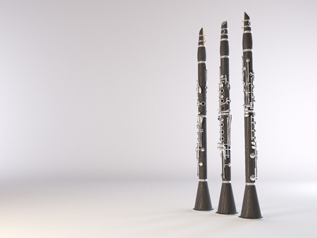 vibrate: Clarinet. High quality photo realistic 3d render