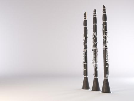 clarinet: Clarinete. Imagen de alta calidad realista 3d Foto de archivo