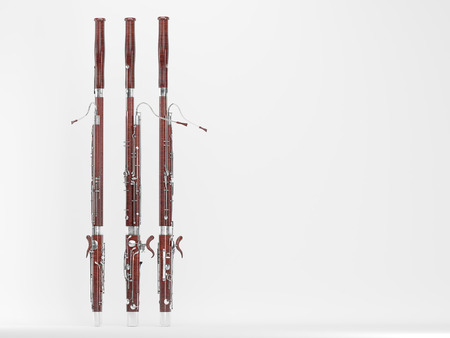 Bassoon. High quality photo realistic 3d render