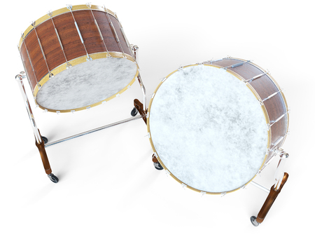Orchestra Big drum on white 3D rendering