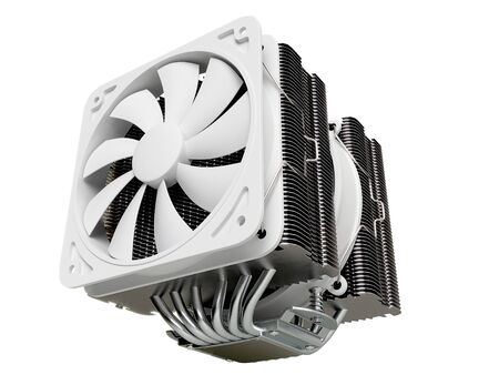 overheat: cpu cooler , Heat Sink with on isolated background