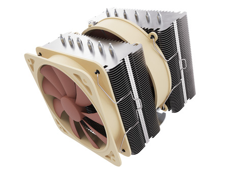 capacitor: cpu cooler , Heat Sink with on isolated background