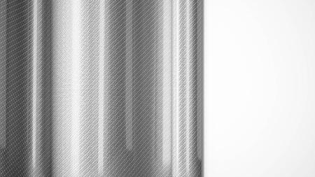 Auto wickeln glänzend Filmrolle Kohlefaser close up Hintergrund. 3D-Rendering Standard-Bild