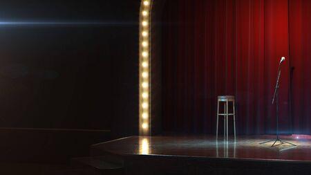 Dunkel leere Bühne. 3d render Standard-Bild