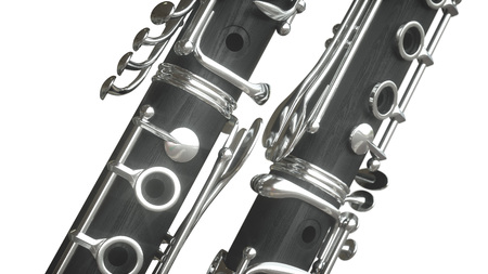 Clarinet. 3D rendering