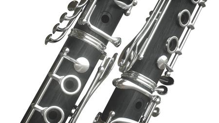 Klarinette. 3D-Rendering