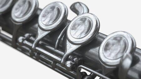 Gealterte Flöte 3D-Rendering Standard-Bild