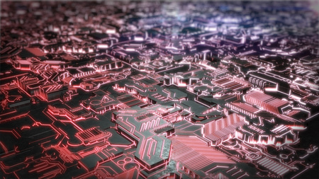 Futuristic Creative Glowing Background. 3D illustration Standard-Bild