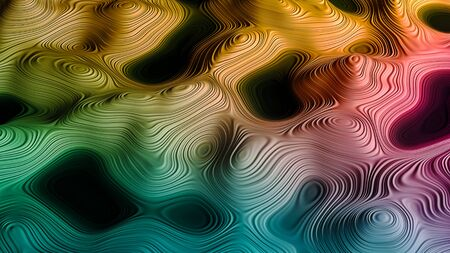 Color Splash. Background design of fractal paint and rich texture on the subject of imagination, creativity and art. 3d render