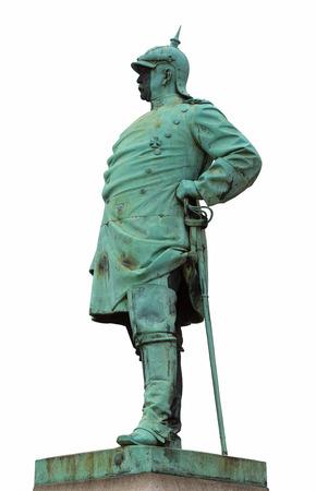 statesman: Il monumento storico dello statista Bismarck D�sseldorf, Germania Archivio Fotografico