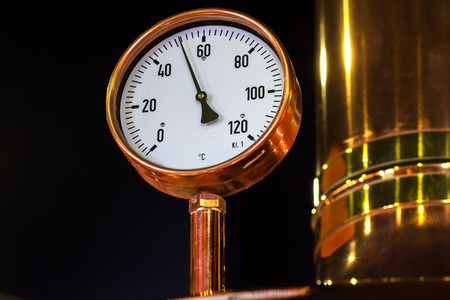 microbrewery: Manometer equipment of brewery