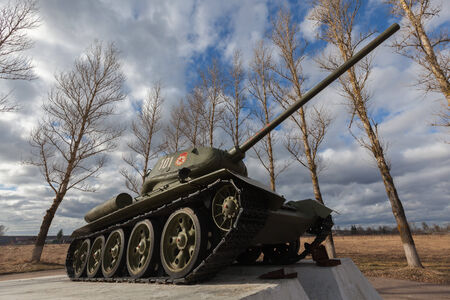 tanque de guerra: Tanque sovi�tico de la Segunda Guerra Mundial. Tank T34 Editorial