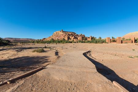 adobe wall: Ksar of Ait Ben Hadu, Morocco