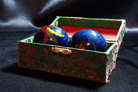 The Chinese  balls on the black background Stock Photo - 3545233